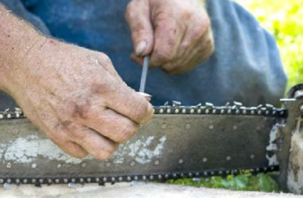How to Sharpen a Chain Saw